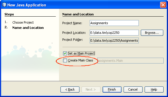 NetBeans Project for Assignments