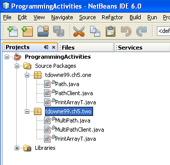 how to add two programs in java package