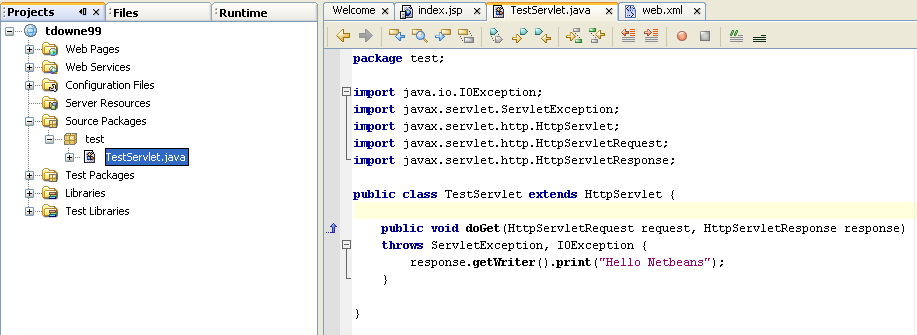 how to create httpservletrequest object in java