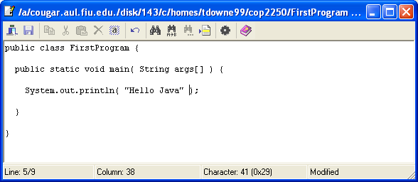 Compiling and Running Java from WinSCP