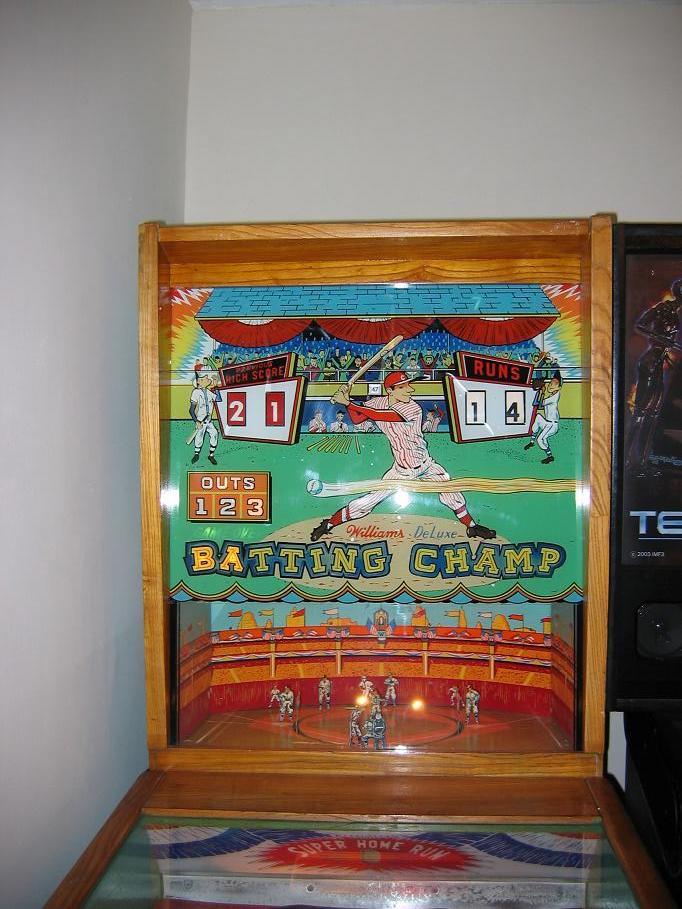 Williams Batting Champ Pitch And Bat Pinball