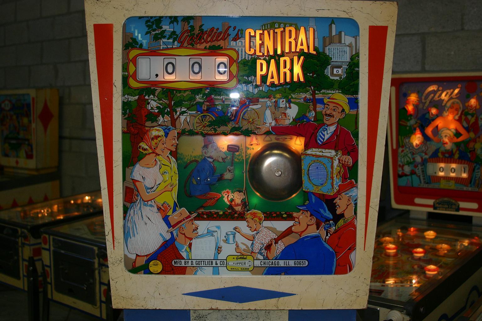 1966 Gottlieb Central Park Pinball Machine