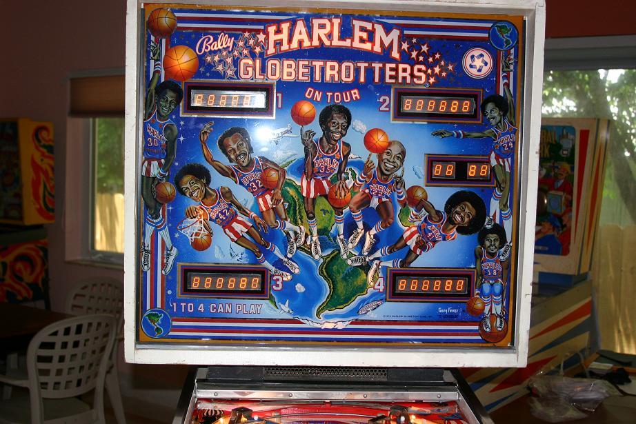 harlem globetrotters pinball machine