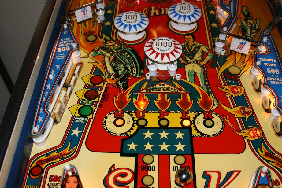 Pop Machine For Sale >> 1977 Bally Evel Knievel Pinball Machine