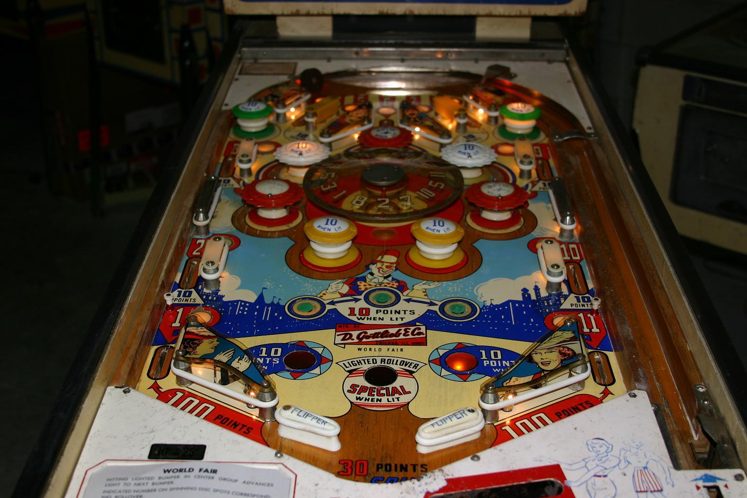 Star Wars Pinball Machine >> 1964 Gottlieb World Fair Pinball Machine